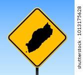 itsukushima map road sign.... | Shutterstock .eps vector #1013175628