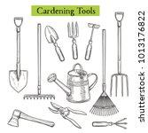 gardening tools vector...   Shutterstock .eps vector #1013176822