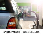 the process of refueling the... | Shutterstock . vector #1013180686