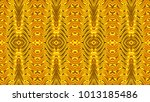gold abstract symmetric... | Shutterstock . vector #1013185486