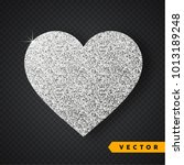 vector silver sparkles heart....   Shutterstock .eps vector #1013189248