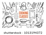 cooking classes and kitchen... | Shutterstock .eps vector #1013194372