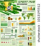 soccer pub infographics on beer ... | Shutterstock .eps vector #1013195512