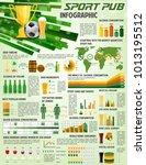 soccer pub infographics on beer ... | Shutterstock .eps vector #1013195512
