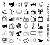 broadcast icons. set of 36... | Shutterstock .eps vector #1013204452