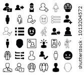 user icons. set of 36 editable... | Shutterstock .eps vector #1013204572