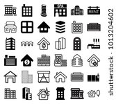 estate icons. set of 36... | Shutterstock .eps vector #1013204602