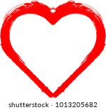 set of hearts . grunge stamps... | Shutterstock .eps vector #1013205682