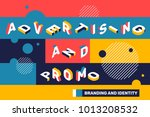 advertising and promo concept... | Shutterstock .eps vector #1013208532