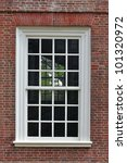 Colonial Style Window In Red...