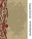 cover design in boho style....   Shutterstock .eps vector #1013219992
