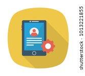 mobile  login setting  | Shutterstock .eps vector #1013221855