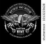 vector custom motorcycle print... | Shutterstock .eps vector #1013223628