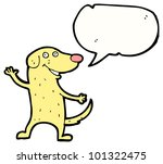 Cartoon Dog With Speech Bubble