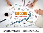 bitcoin cryptocurrency  concept.... | Shutterstock . vector #1013226652