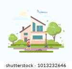 lovely house   modern flat... | Shutterstock .eps vector #1013232646