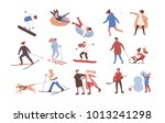 collection of male and female... | Shutterstock .eps vector #1013241298