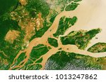 river delta of the amazon  the... | Shutterstock . vector #1013247862