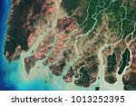 river delta of the irrawady  a... | Shutterstock . vector #1013252395