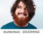 smiling bearded hipster man... | Shutterstock . vector #1013254462