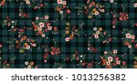 seamless ditsy floral pattern | Shutterstock .eps vector #1013256382