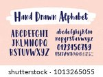 stylish hand drawn english... | Shutterstock .eps vector #1013265055