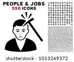 dolor murder with hammer... | Shutterstock .eps vector #1013269372