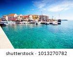 resort town on adriatic sea...   Shutterstock . vector #1013270782