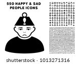 sad head stress pictograph with ... | Shutterstock .eps vector #1013271316