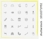 smoking line icon set sheet ... | Shutterstock .eps vector #1013271952