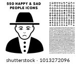 unhappy jew pictograph with 550 ... | Shutterstock .eps vector #1013272096