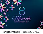 bright holographic flowers....   Shutterstock .eps vector #1013272762