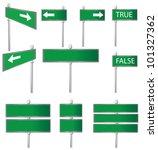 set of road signs vector | Shutterstock .eps vector #101327362