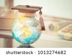 graduated study abroad... | Shutterstock . vector #1013274682