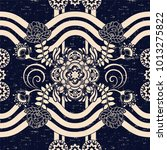 seamless paisley background ... | Shutterstock .eps vector #1013275822