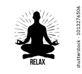 relax. vector meditation man.... | Shutterstock .eps vector #1013276506