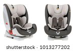 baby car seat on a white... | Shutterstock . vector #1013277202