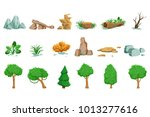 landscape natural elements set... | Shutterstock .eps vector #1013277616