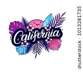 california hand written... | Shutterstock . vector #1013281735