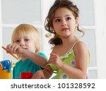 employment in a kindergarten | Shutterstock . vector #101328592