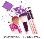 eyeshadow in box and crushed... | Shutterstock . vector #1013285962