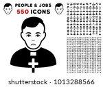 pitiful catholic priest... | Shutterstock .eps vector #1013288566