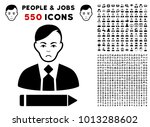 pitiful clerk icon with 550... | Shutterstock .eps vector #1013288602