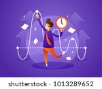 business manager controls... | Shutterstock .eps vector #1013289652