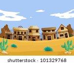wild west illustration scene... | Shutterstock .eps vector #101329768