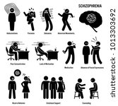 schizophrenia chronic brain... | Shutterstock . vector #1013303692