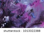 Abstract Marble Purple Black...