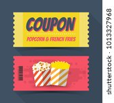 coupon popcorn and french fries ... | Shutterstock .eps vector #1013327968
