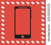 smartfon icon flat. simple...
