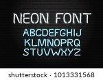 vector realistic isolated neon... | Shutterstock .eps vector #1013331568